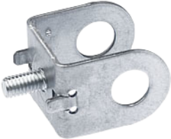 Sheet metal part with headless screw
